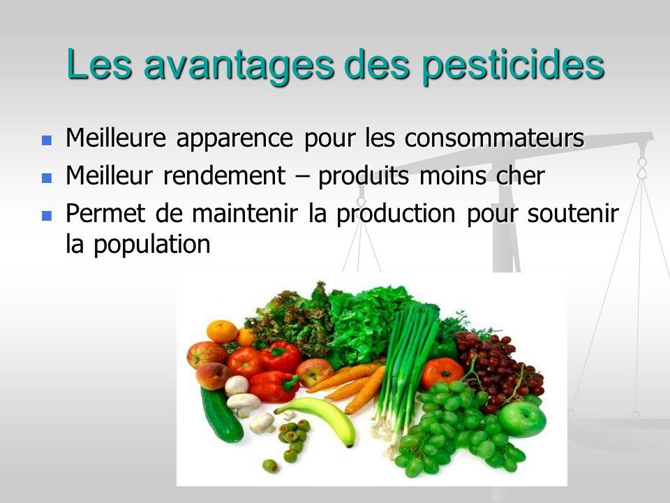 Les avantages des pesticides