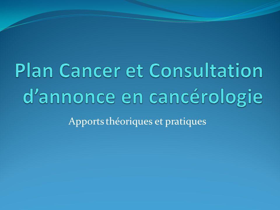 Plan Cancer et Consultation d'annonce en cancérologie
