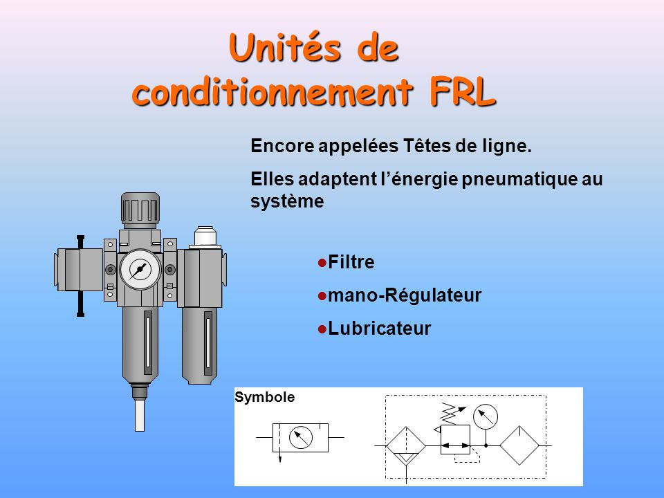 Unités de conditionnement FRL