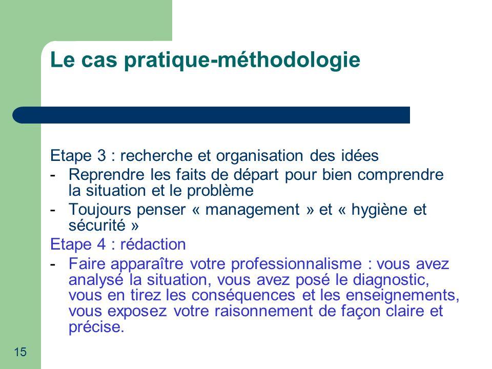 Le cas pratique-méthodologie