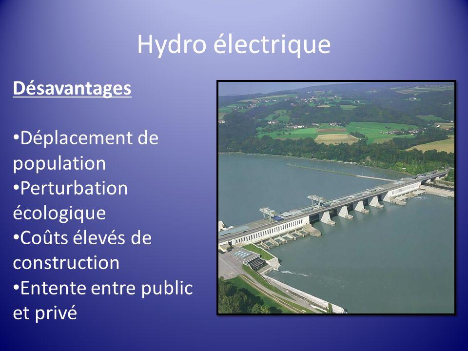 Hydro électrique Désavantages Déplacement de population