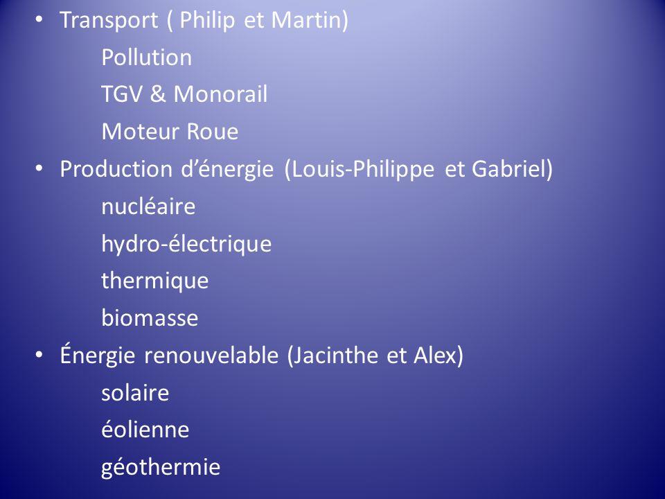 Transport ( Philip et Martin)