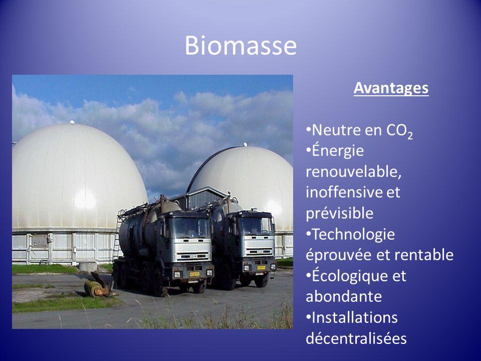 Biomasse Avantages Neutre en CO2