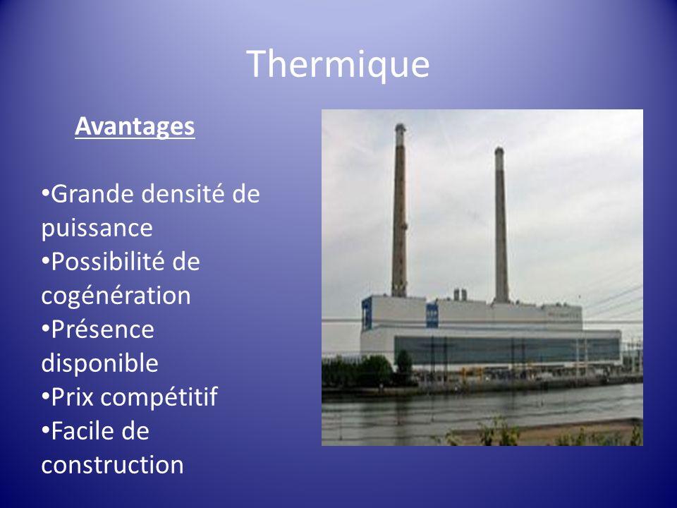 Thermique Avantages Grande densité de puissance
