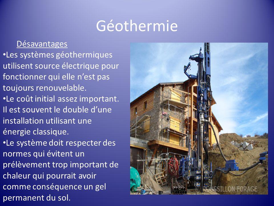 Géothermie Désavantages