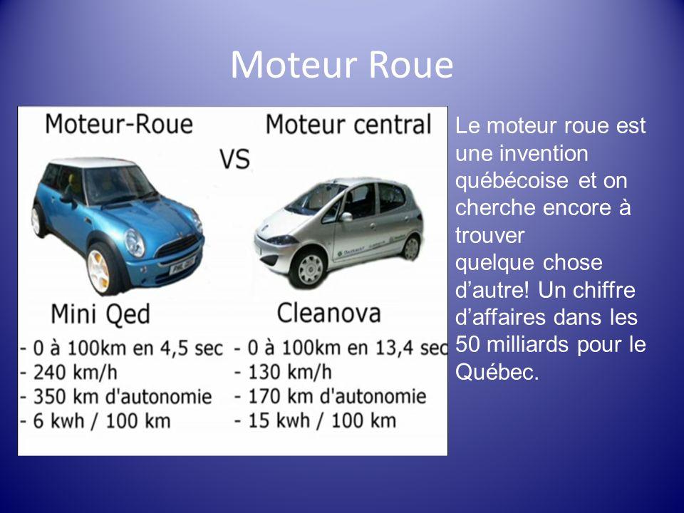 Moteur Roue Le moteur roue est une invention québécoise et on cherche encore à trouver.