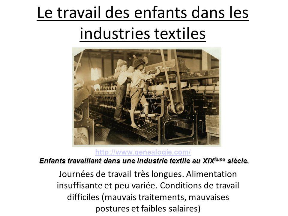 Le travail des enfants dans les industries textiles