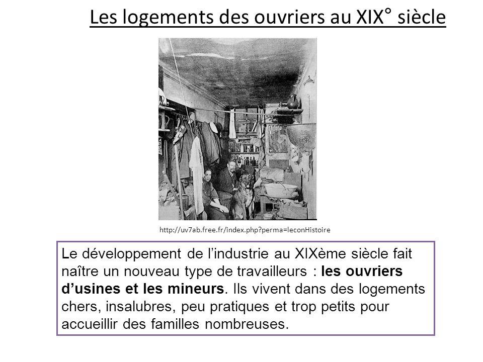 Les logements des ouvriers au XIX° siècle