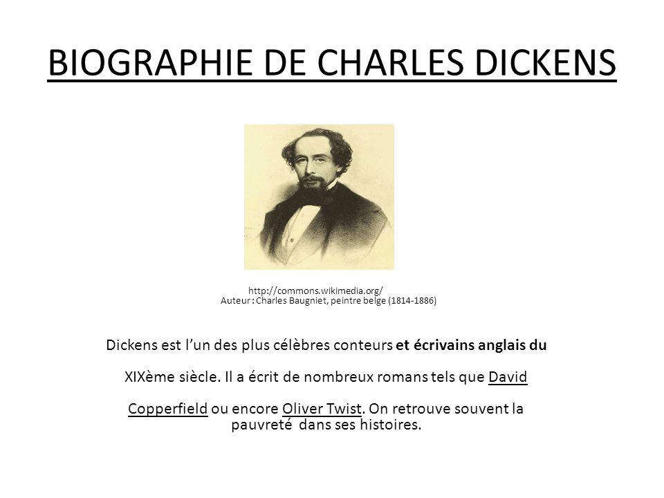 BIOGRAPHIE DE CHARLES DICKENS
