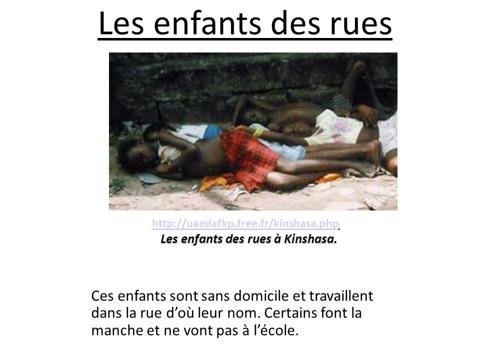 Les enfants des rues à Kinshasa.