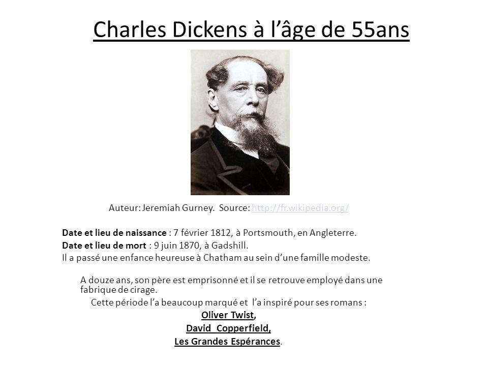 Charles Dickens à l'âge de 55ans