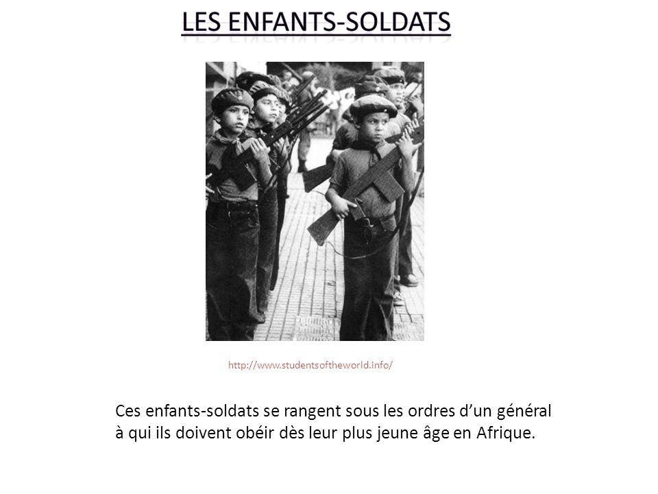 Ces enfants-soldats se rangent sous les ordres d'un général