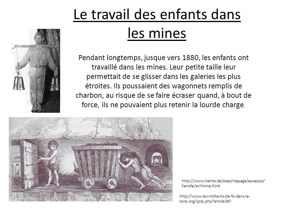 Le travail des enfants dans les mines