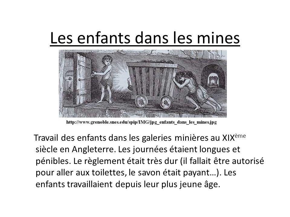 Les enfants dans les mines