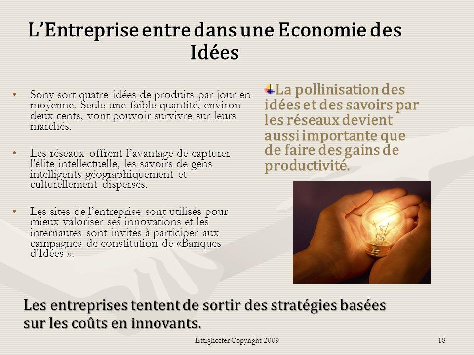 L'Entreprise entre dans une Economie des Idées