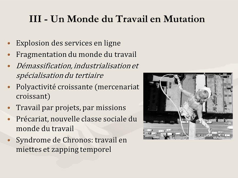 III - Un Monde du Travail en Mutation