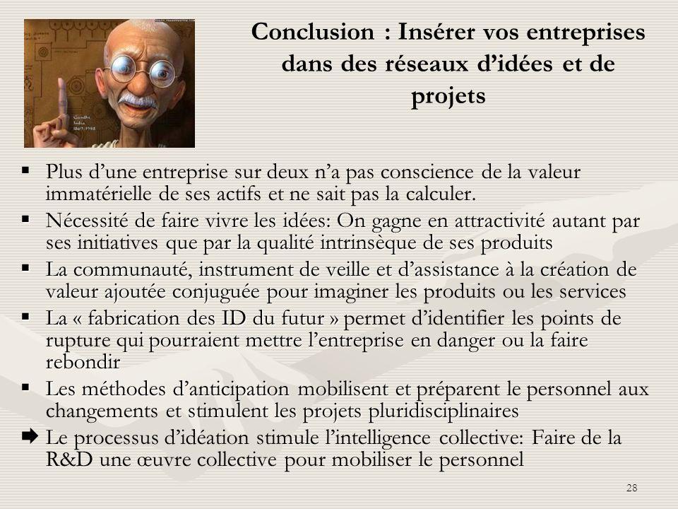 Conclusion : Insérer vos entreprises dans des réseaux d'idées et de projets