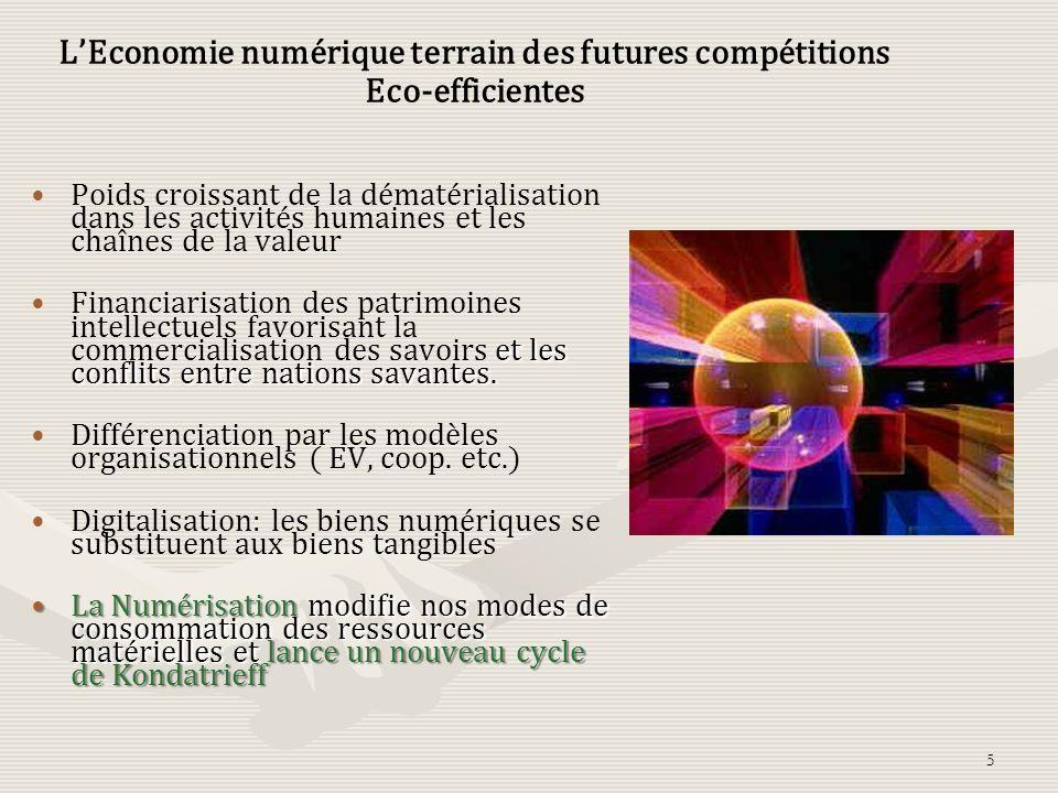 L'Economie numérique terrain des futures compétitions Eco-efficientes