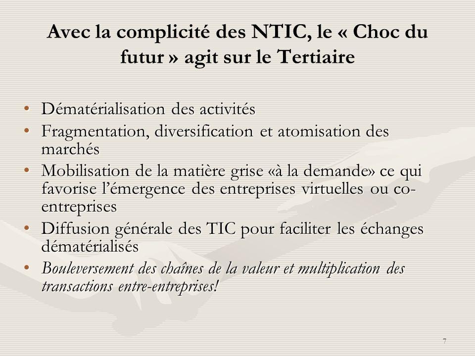 Avec la complicité des NTIC, le « Choc du futur » agit sur le Tertiaire