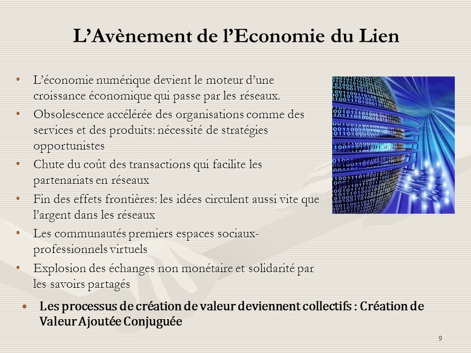L'Avènement de l'Economie du Lien