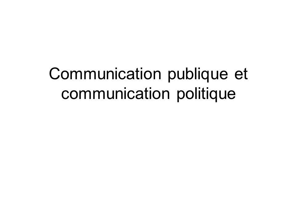 Communication publique et communication politique