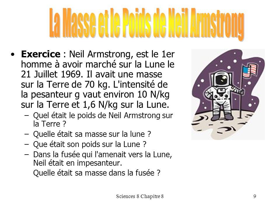 La Masse et le Poids de Neil Armstrong