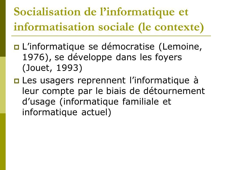 Socialisation de l'informatique et informatisation sociale (le contexte)