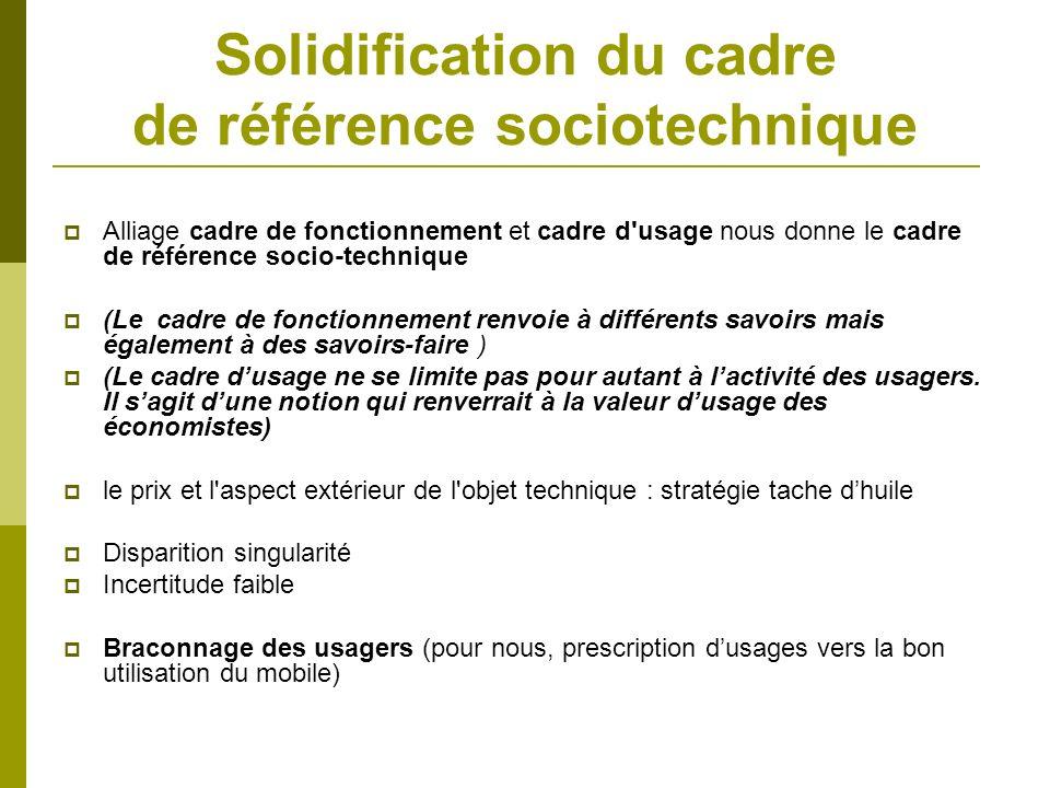 Solidification du cadre de référence sociotechnique