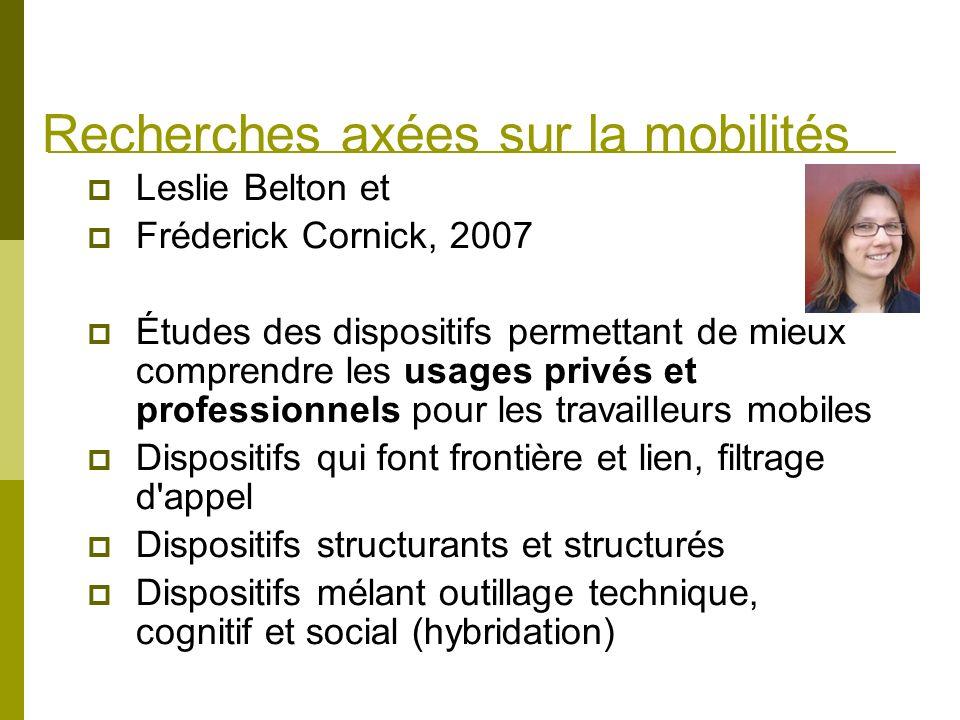 Recherches axées sur la mobilités