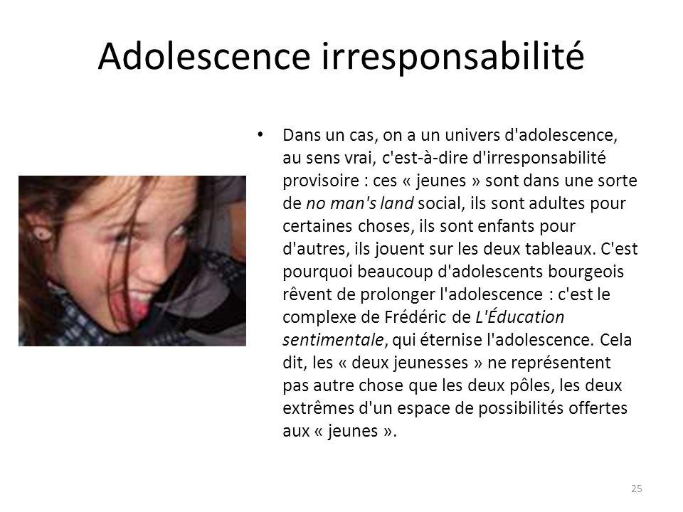 Adolescence irresponsabilité