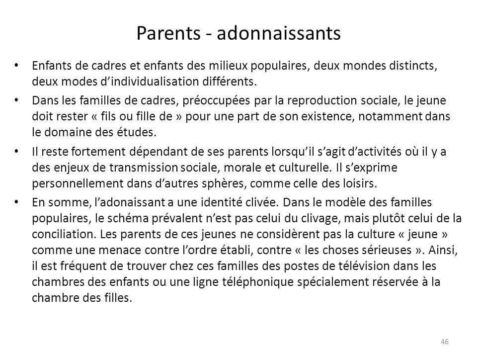 Parents - adonnaissants