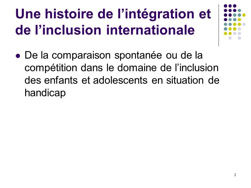 Une histoire de l'intégration et de l'inclusion internationale