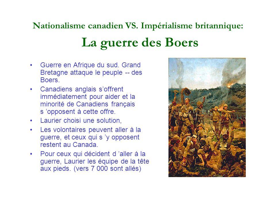 Nationalisme canadien VS. Impérialisme britannique: La guerre des Boers