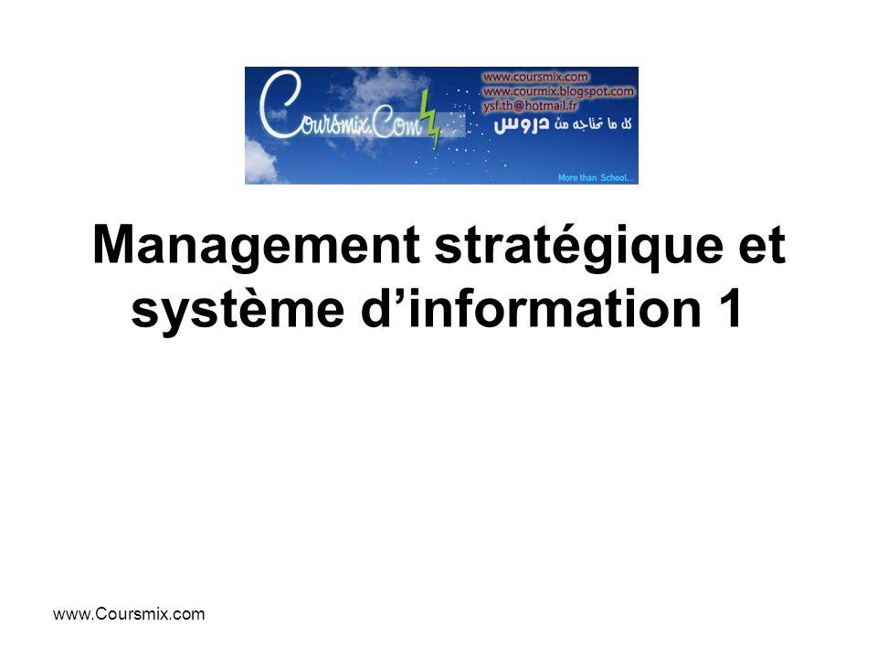 Management stratégique et système d'information 1