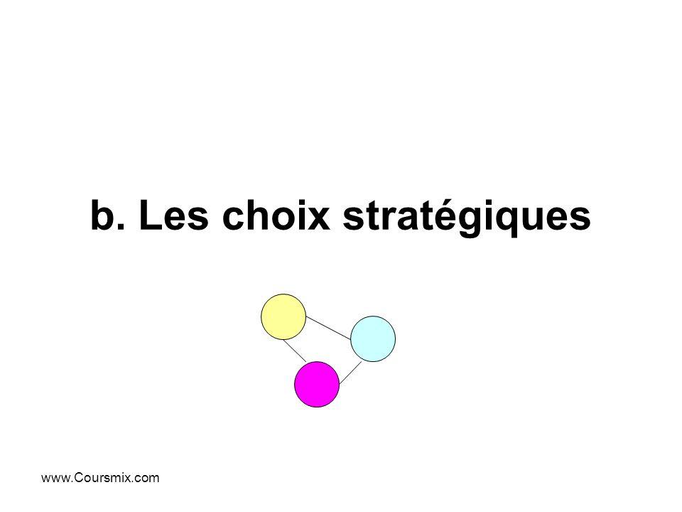 b. Les choix stratégiques