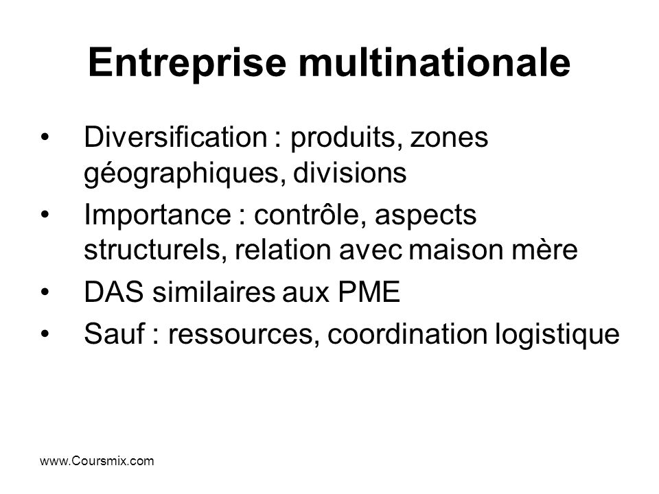Entreprise multinationale