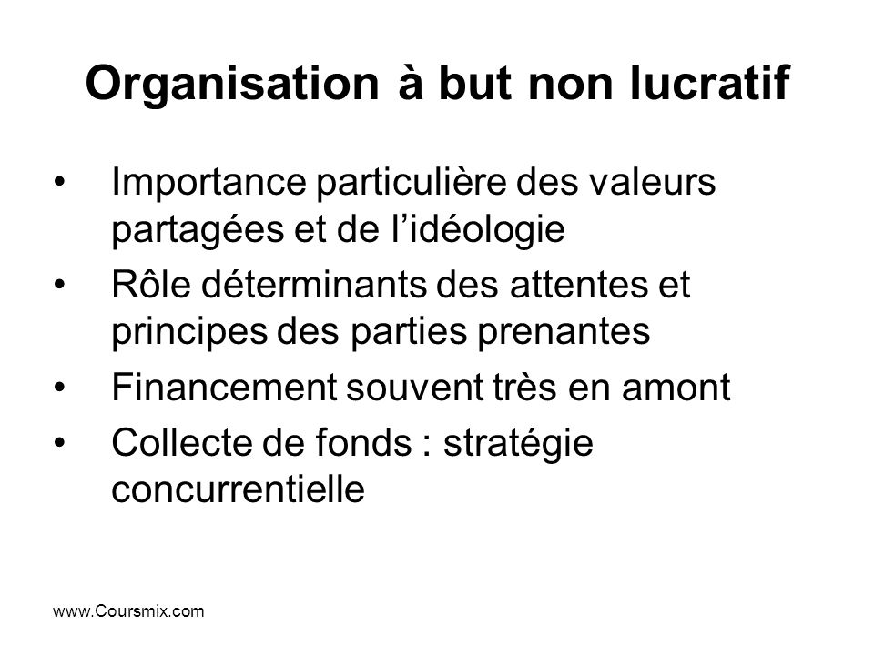 Organisation à but non lucratif
