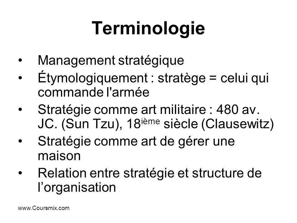Terminologie Management stratégique