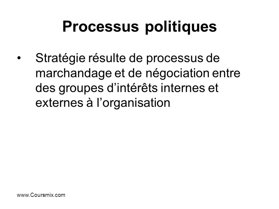 Processus politiques