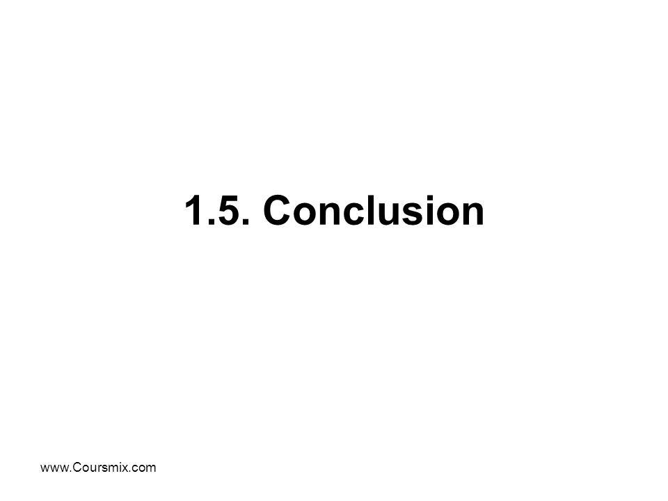 1.5. Conclusion www.Coursmix.com