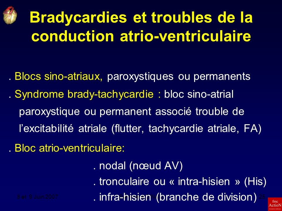 Bradycardies et troubles de la conduction atrio-ventriculaire