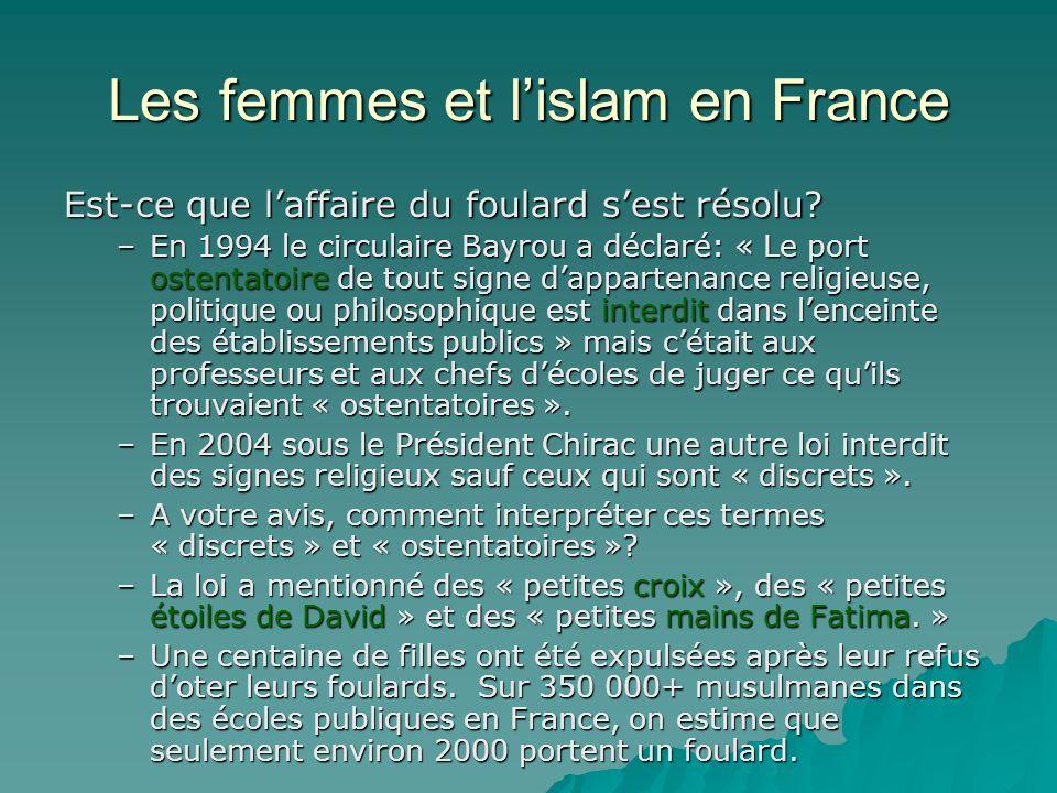 Les femmes et l islam en france ppt t l charger - La loi sur le port du voile en france ...