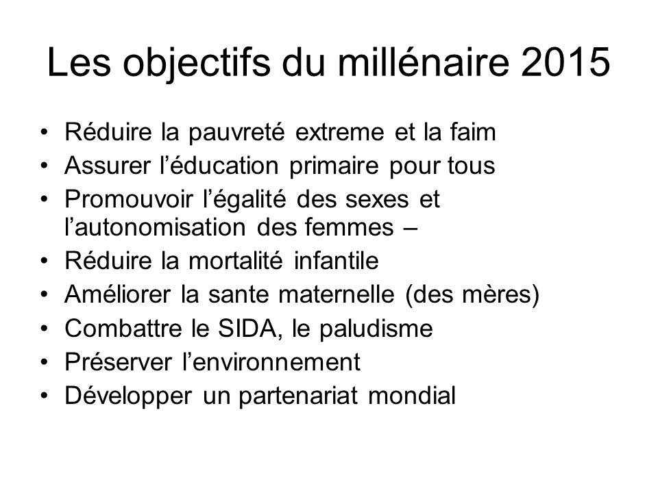 Les objectifs du millénaire 2015