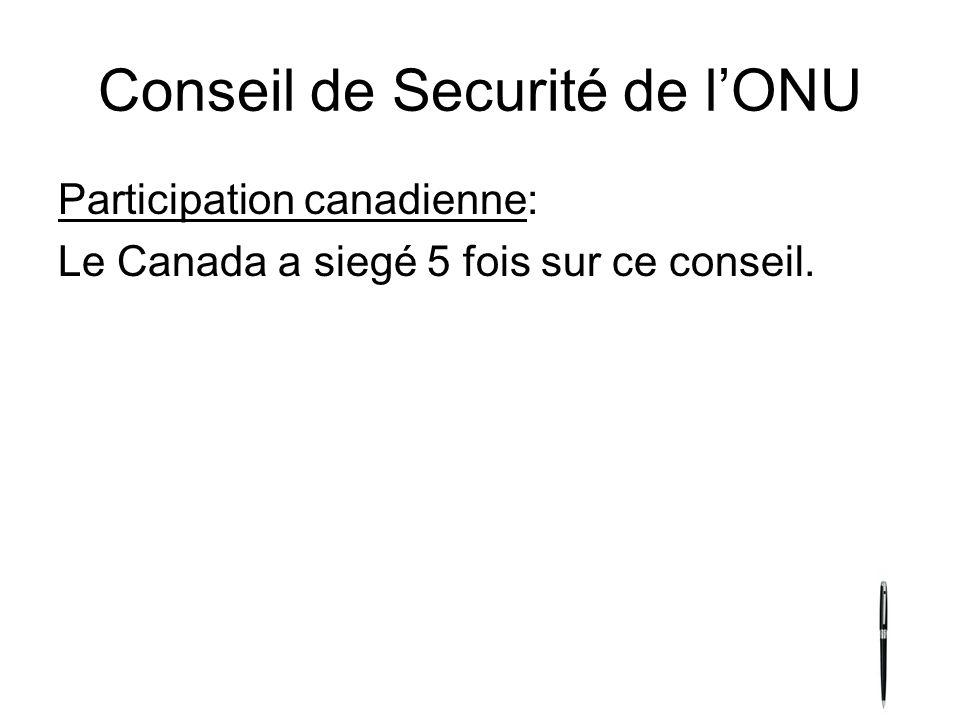 Conseil de Securité de l'ONU