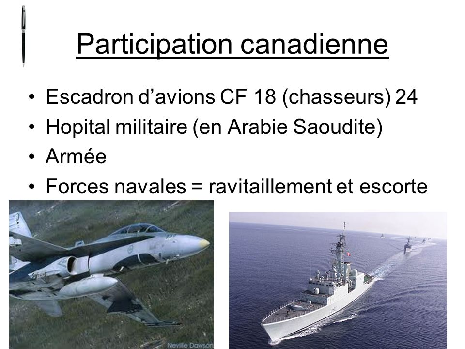 Participation canadienne