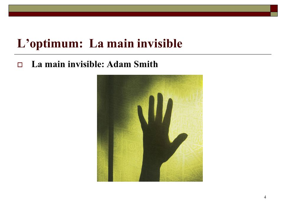L'optimum: La main invisible