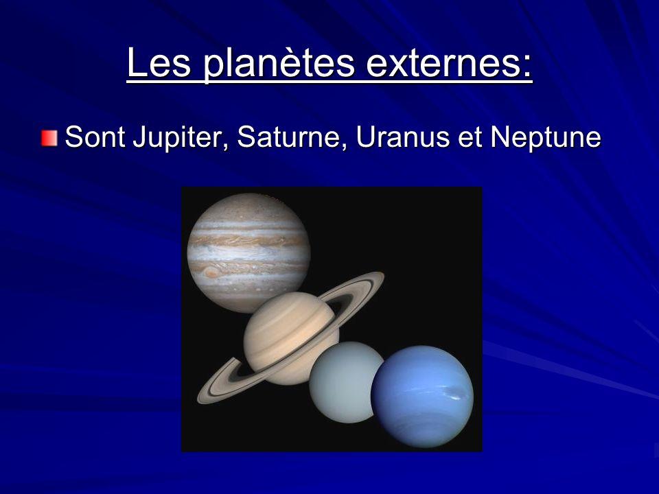 Les planètes externes: