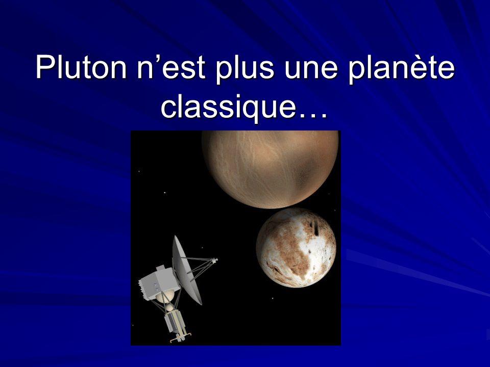 Pluton n'est plus une planète classique…