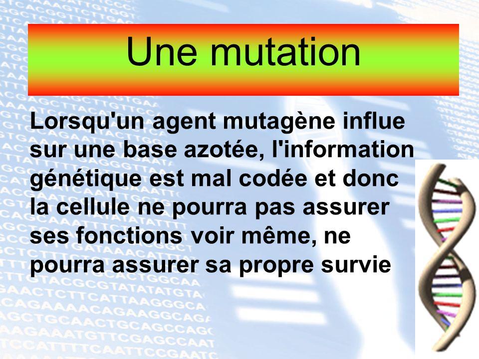 Une mutation