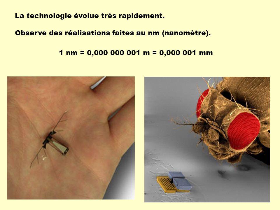 La technologie évolue très rapidement.